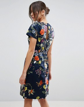 photo Dress In Floral Print by Uttam Boutique, color Navy - Image 2