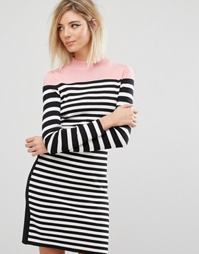 photo Stripe Knit Dress by Sonia by Sonia Rykiel, color  - Image 1