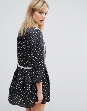 photo Star Print Dress by Chandelier, color Black - Image 2