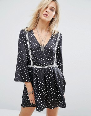 photo Star Print Dress by Chandelier, color Black - Image 1