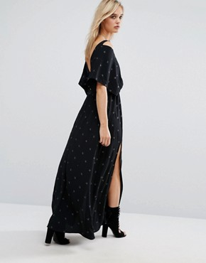 photo Star Print Maxi Dress by Chandelier, color Black - Image 2