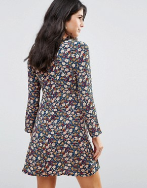 photo Love Ready Floral Printed Tea Dress with Keyhole Front by WYLDR, color  - Image 2