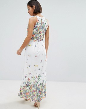 photo Maxi Dress with Pleated Top by Uttam Boutique Petite, color White - Image 2