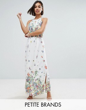 photo Maxi Dress with Pleated Top by Uttam Boutique Petite, color White - Image 1