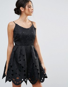 photo Scuba Skater Dress with Cut Out Detail by Amy Lynn, color Black - Image 1