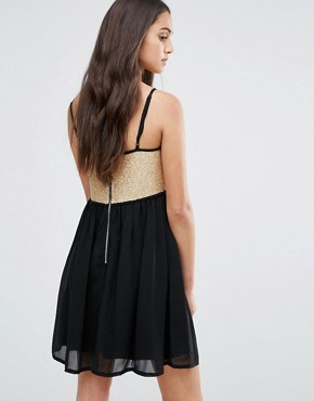 photo Colour Block Skater Dress by Girl In Mind, color Black - Image 2
