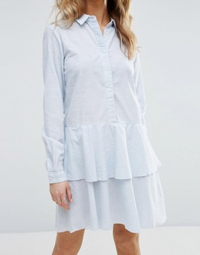 photo Peplum Ruffle Shirt Dress by Vila, color  - Image 3