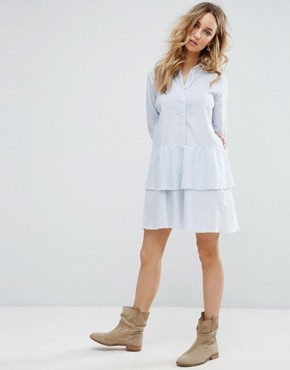 photo Peplum Ruffle Shirt Dress by Vila, color  - Image 4
