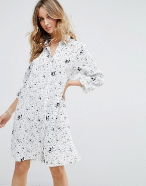 photo Printed Shirt Dress by Vila, color  - Image 1