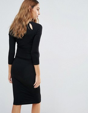 photo Bodycon Dress with Keyhole Detail by Isabella Oliver, color Black - Image 2