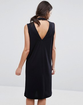 photo Lisa High Neck Dress by Selected, color Black - Image 2
