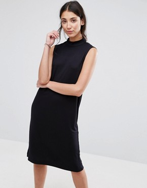 photo Lisa High Neck Dress by Selected, color Black - Image 1