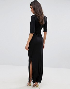 photo Lulu Maxi Dress by Selected, color Black - Image 2
