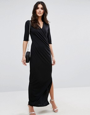 photo Lulu Maxi Dress by Selected, color Black - Image 1