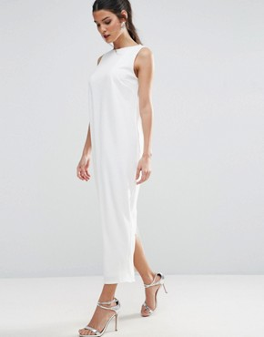 photo Scuba Cross Back City Maxi Dress by ASOS PREMIUM, color White - Image 2