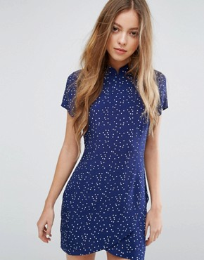 photo Midnight Bones High Neck Dress by Rollas, color Navy Spot - Image 1