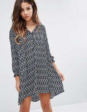 photo Printed Mini Dress by BA&SH, color Blue - Image 1