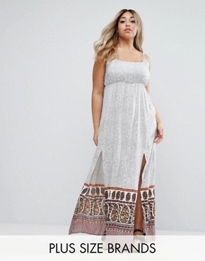 photo Maxi Dress with Splits by Diya Plus, color  - Image 1