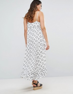 photo Maxi Dress with Overlay Top by Diya Plus, color White - Image 2