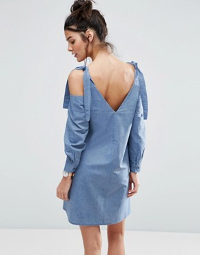 photo Casual Swing Dress by ASOS, color Blue - Image 2