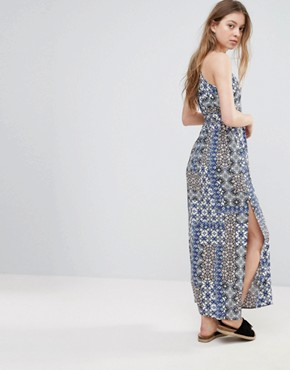 photo Printed Belted Maxi Dress by Vero Moda, color Tanin - Image 2