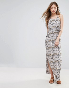 photo Printed Belted Maxi Dress by Vero Moda, color Ash - Image 1