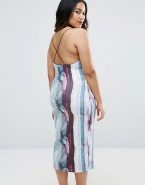 photo Bodycon Midi Dress in Abstract Print by ASOS CURVE, color  - Image 2