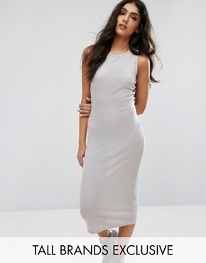 photo Longline Bodycon Dress by Daisy Street Tall, color Grey - Image 1
