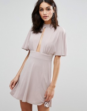 photo Kimono Sleeve Dress by Love, color Camel - Image 1