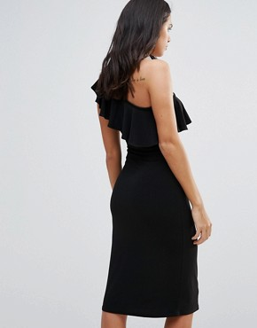 photo One Shoulder Frill Dress by Love, color Black - Image 2