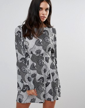 photo Monochrome Print Smock Dress by Love, color  - Image 1