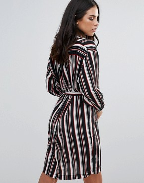photo Striped Belted Shirt Dress by Love, color  - Image 2