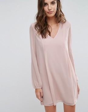 photo Flared Sleeve Dress by BCBGeneration, color Pink - Image 1