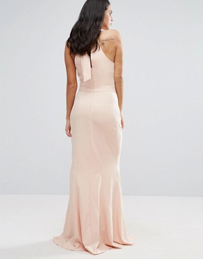 photo Choker Neck Maxi Dress by Jarlo, color Peach - Image 2