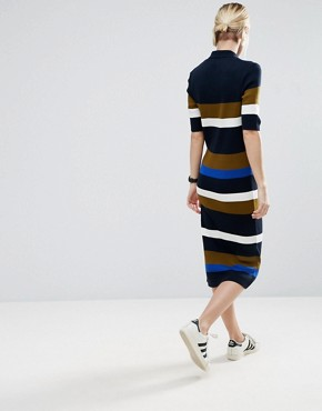 photo Knitted Polo Dress In Stripe by ASOS, color  - Image 2