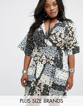 photo Patchwork Wrap Dress by Alice & You, color  - Image 1