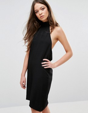 photo Open Back Dress by Neon Rose, color Black - Image 2