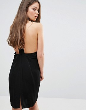 photo Open Back Dress by Neon Rose, color Black - Image 1