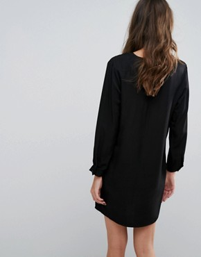 photo V Neck Dress by Neon Rose, color Black - Image 2