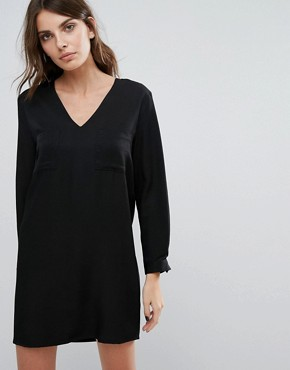 photo V Neck Dress by Neon Rose, color Black - Image 1