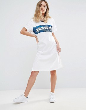 photo T-Shirt Dress by Adidas, color White - Image 1