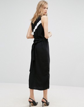 photo Column Dress with Side Stripe Detail by Alter Tall, color Black - Image 2