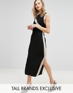 photo Column Dress with Side Stripe Detail by Alter Tall, color Black - Image 1