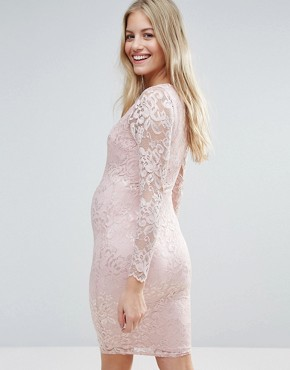 photo Lace Bodycon Dress by Queen Bee, color Rose - Image 2