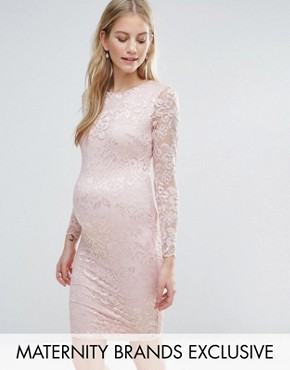 photo Lace Bodycon Dress by Queen Bee, color Rose - Image 1