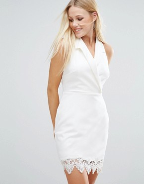 photo Tux Dress by Girls on Film, color Off White - Image 1