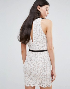 photo Lace Shift Dress with Tie Detail by Endless Rose, color White - Image 2