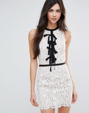 photo Lace Shift Dress with Tie Detail by Endless Rose, color White - Image 1