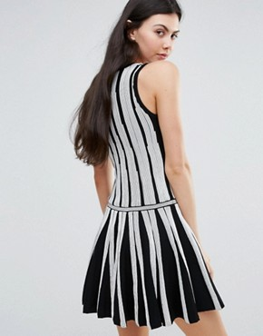 photo Monochrome Skater Dress by Endless Rose, color Black - Image 2