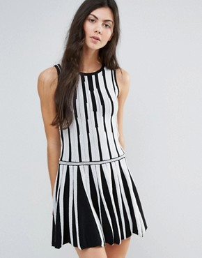 photo Monochrome Skater Dress by Endless Rose, color Black - Image 1